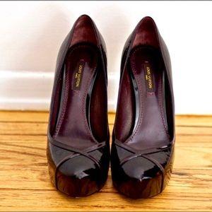 Louis Vuitton Amarante Monogram Vernis Tamara Shoe